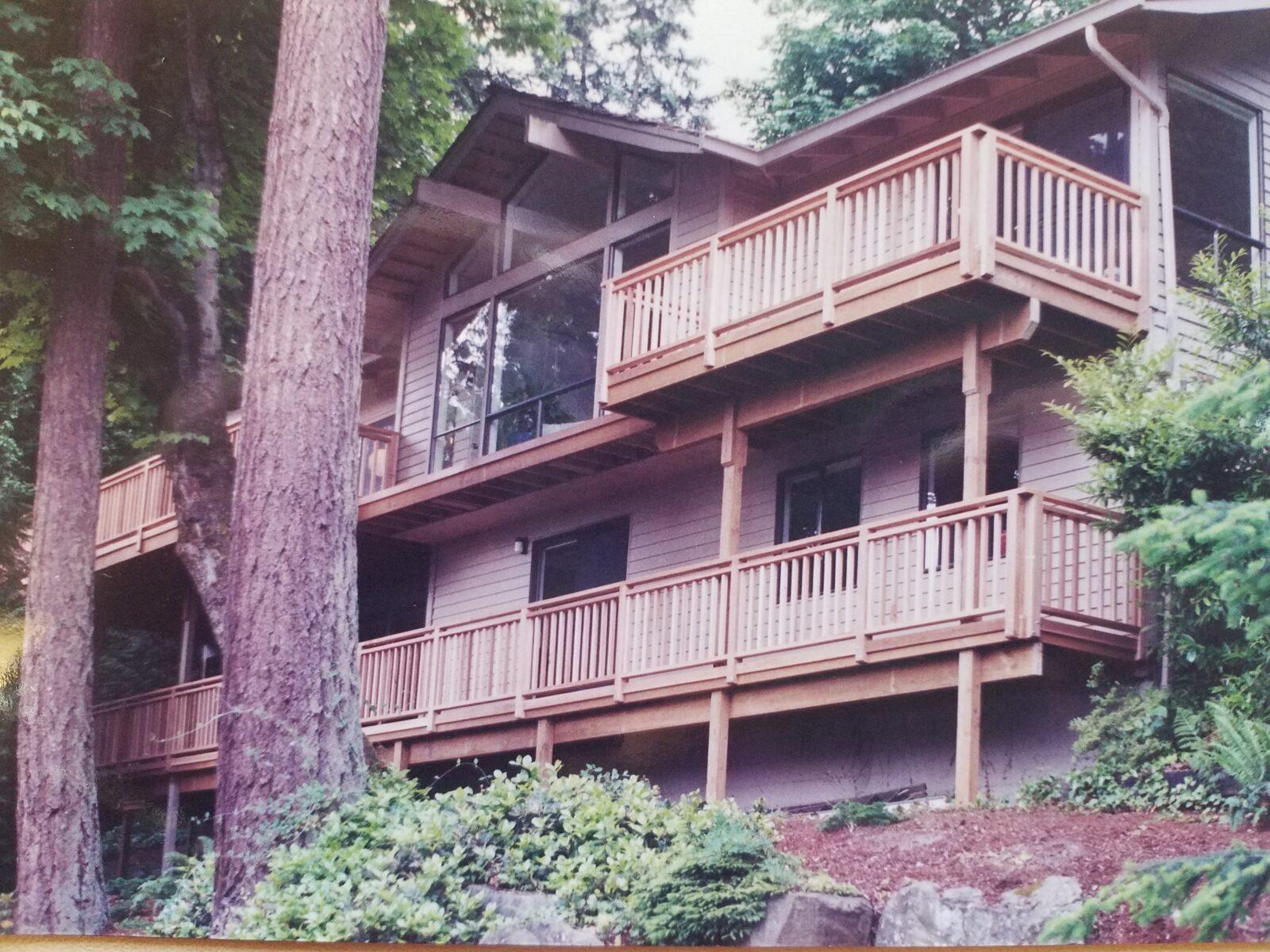 2 level deck