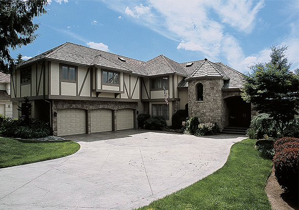 Large home with stone and sidings